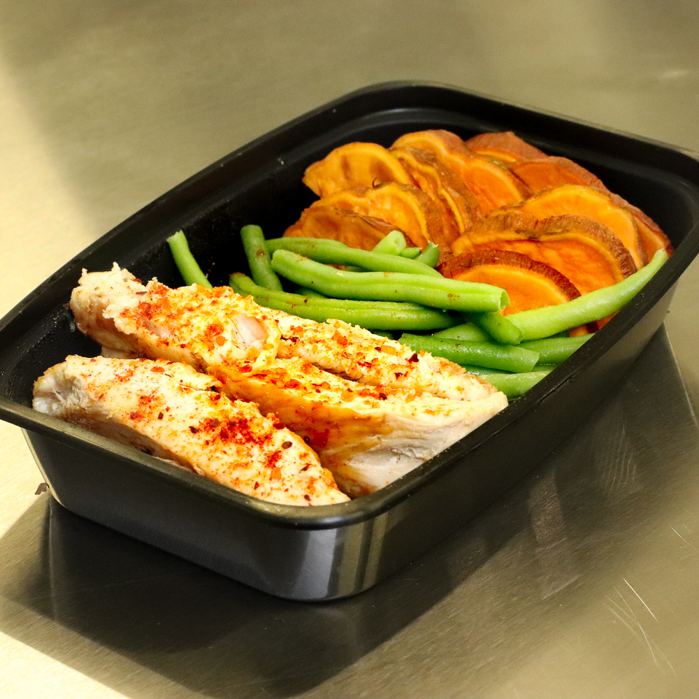Chicken and Baked Sweet Potatoes