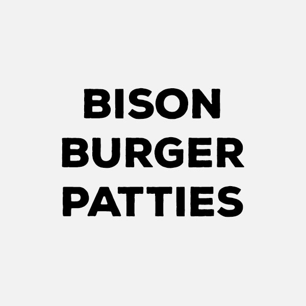 Bison burger patties by the pound