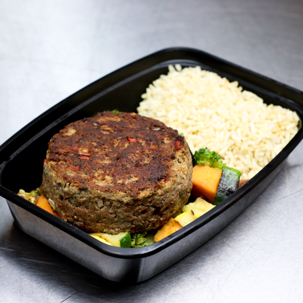 Turkey Patty with Mixed Vegetables
