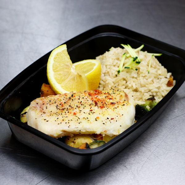 Cod with Basmati Rice and Mixed Vegetables