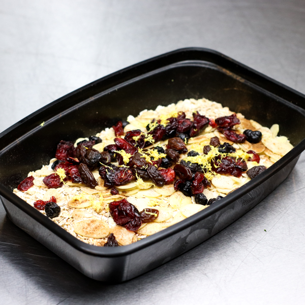 Cranberry and Almond Cinnamon Oatmeal