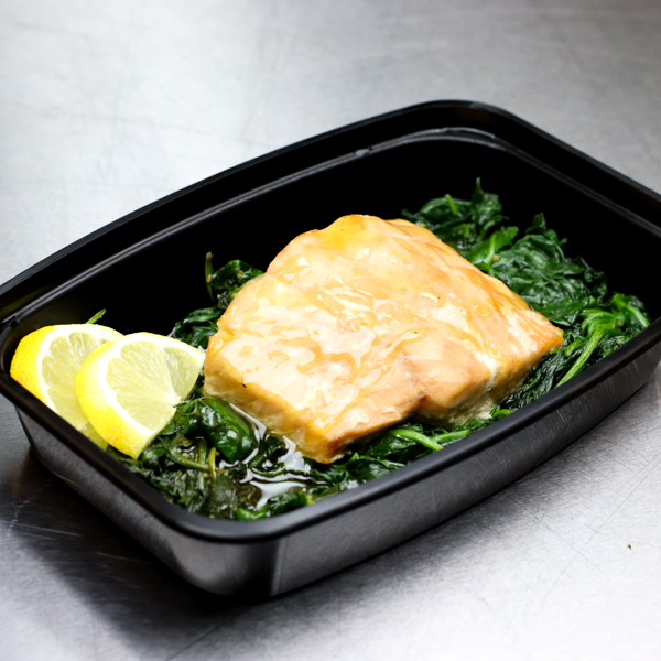 Ginger Glazed Salmon and Spinach
