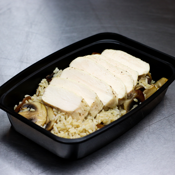 Chicken Breast and Mushrooms with Brown Rice
